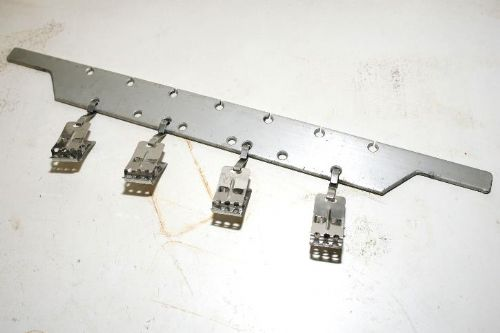 Stainless steel hanger with 35mm film clips for dip and dunk machine